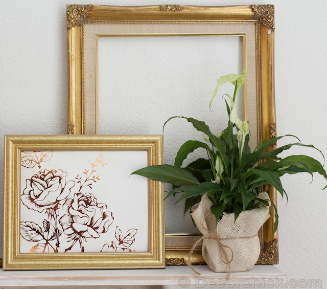Antique Gold Frames | www.decorchick.com