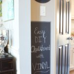 Easy DIY Chalkboard in the Kitchen, and a Silhouette Cameo Giveaway