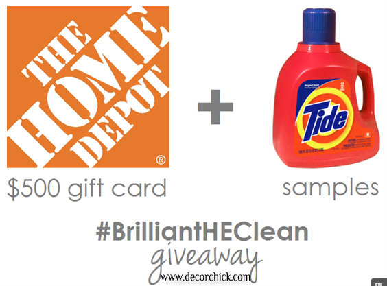 Home Depot Giveaway and Tide