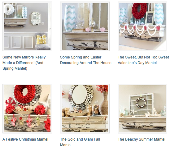 Mantel Gallery | www.decorchick.com