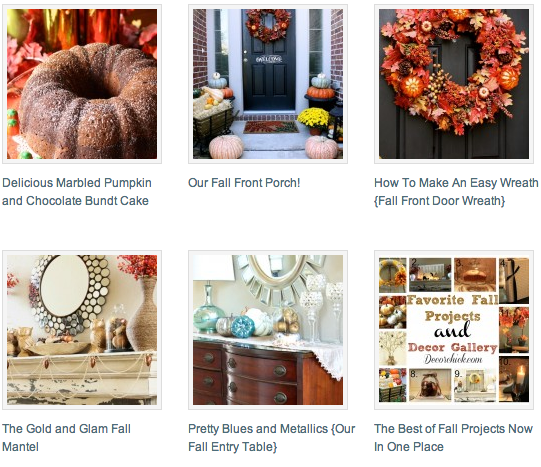 Fall Project Gallery | www.decorchick.com