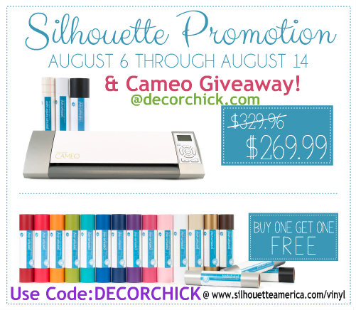 Silhouette Cameo Giveaway Vinyl