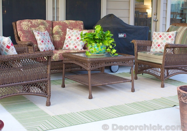 Wicker Patio Furniture | www.decorchick.com