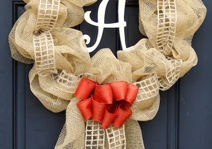 Burlap Deco Mesh Wreath | New Fall Wreath!
