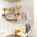 Rustic and Textured Fall Mantel