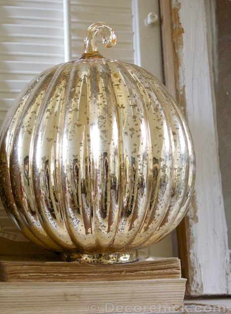 Gold Mercury Glass Pumpkin | www.decorchick.com