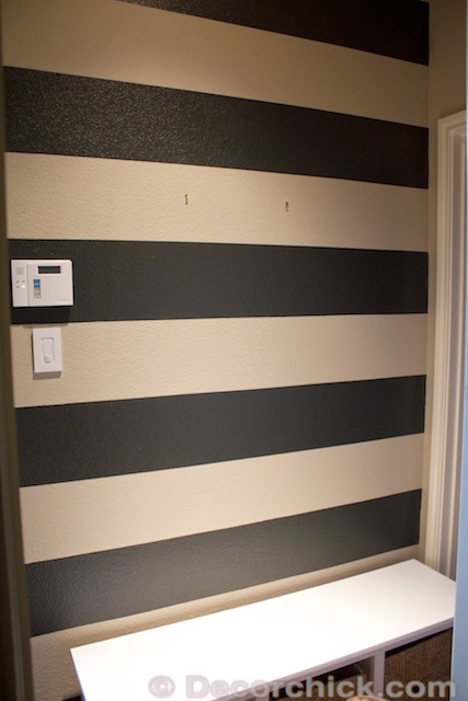 How To Paint Stripes on Textured Walls | www.decorchick.com