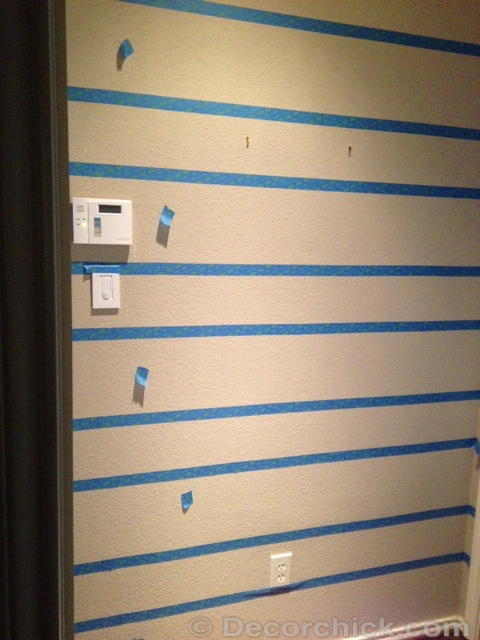 How To Tape Off Stripes | www.decorchick.com