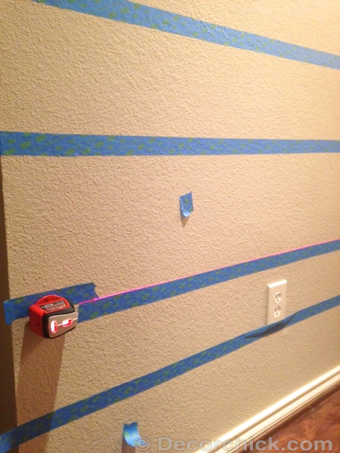 How To Paint Stripes And Painting On Textured Walls