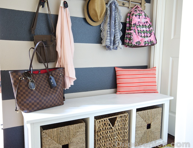 DIY Mudroom Bench | www.decorchick.com