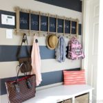 Mudroom Makeover Under $100! | And A Striped Wall