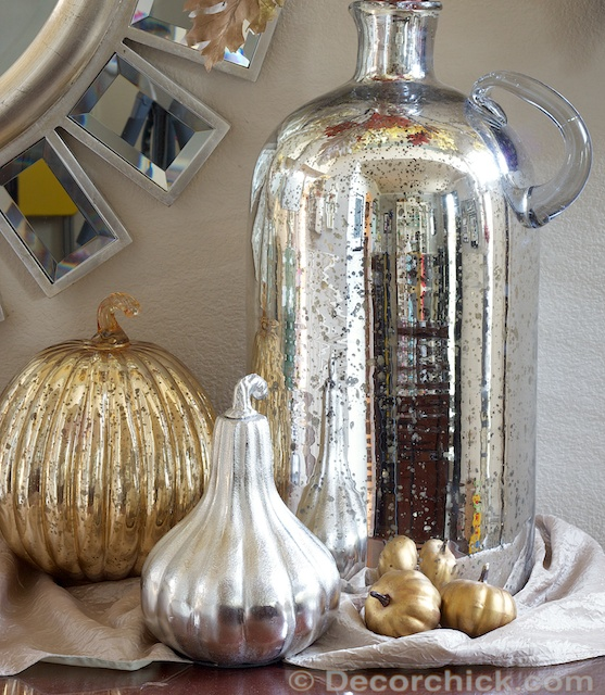 Pottery Barn Mercury Glass Vase Display | www.decorchick.com