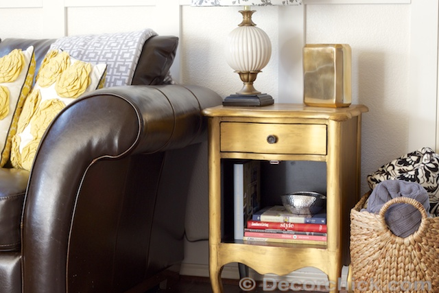 Gold Painted Furniture | www.decorchick.com