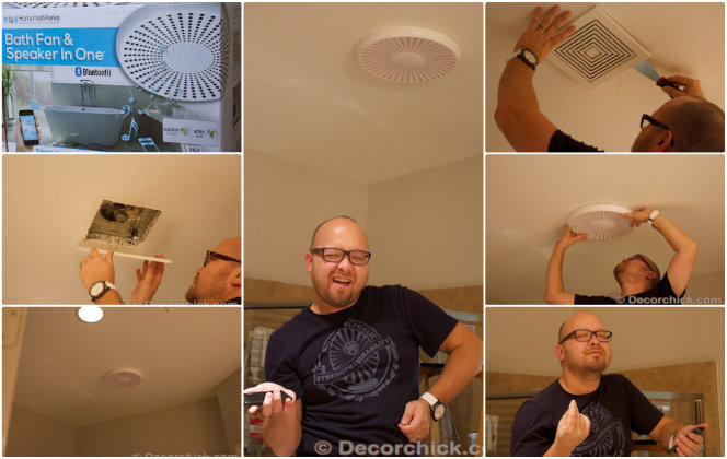 Installing a bathroom fan