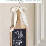 DIY Chalkboard Cutting Board | www.decorchick.com