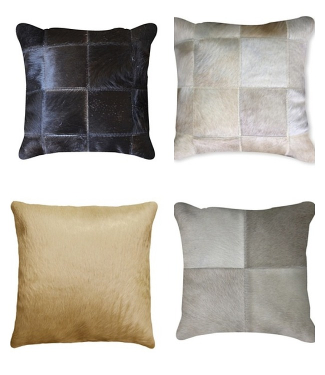 Cowhide Pillows | www.decorchick.com