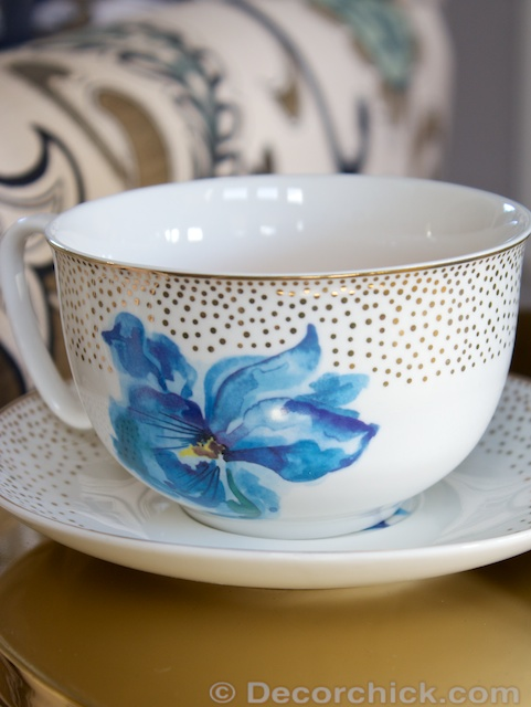 Flower Tea Cup and Saucer | www.decorchick.com