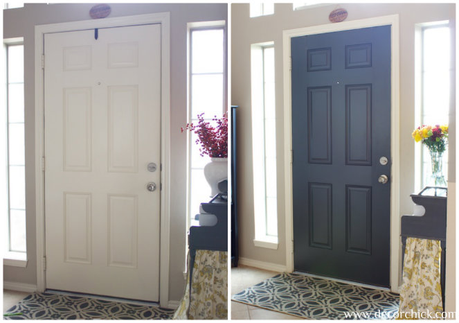 more painted interior doors before and after decorchick. Black Bedroom Furniture Sets. Home Design Ideas