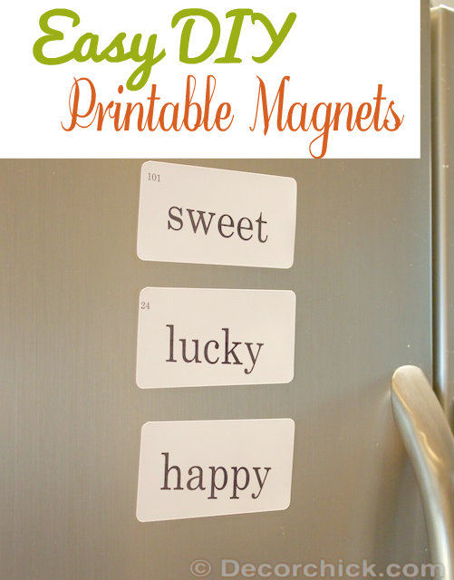Easy DIY Magnets | www.decorchick.com