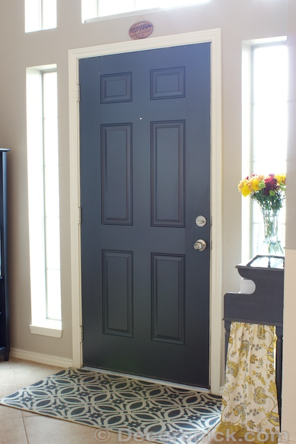 Painted Interior Front Door Painted Black Interior Door
