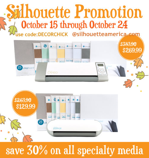 Silhouette Specialty Media Promotion | www.decorchick.com