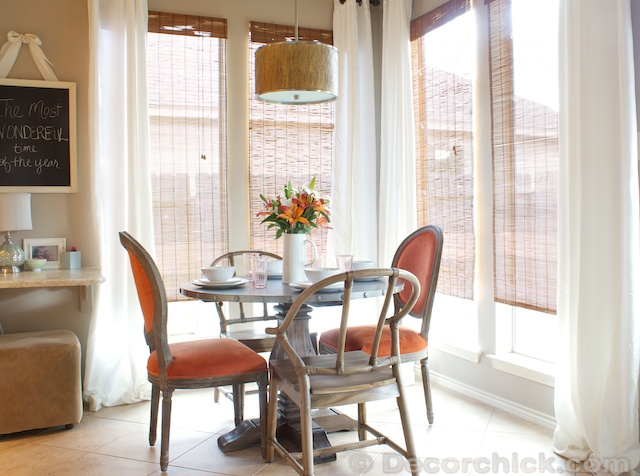 Breakfast Room Makeover | www.decorchick.com