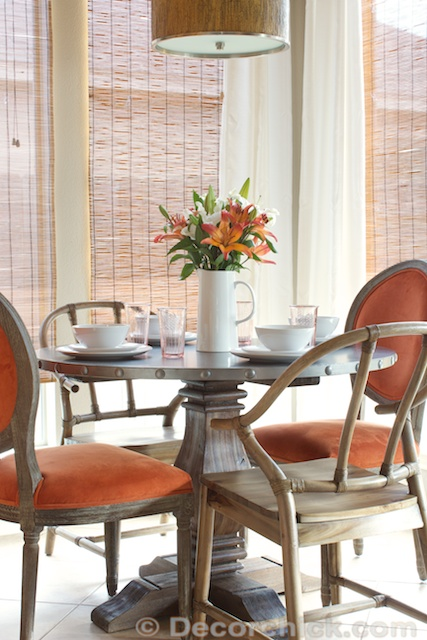 Breakfast Room Makeover with Table and Chairs | www.decorchick.com