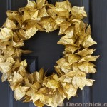 Dollar Store Christmas Wreath | Gold Leaf Wreath