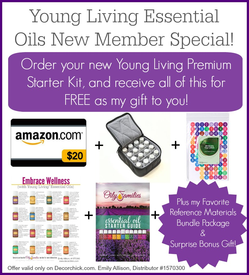 Join Young Living and Receive all of these goodies for FREE from me! Only on Decorchick.com | Decorchick!®