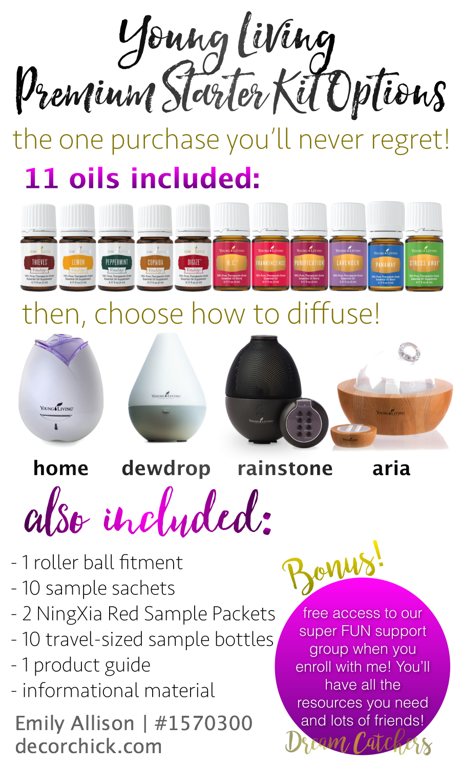 Young Living Premium Starter Kit Options! | Decorchick!®