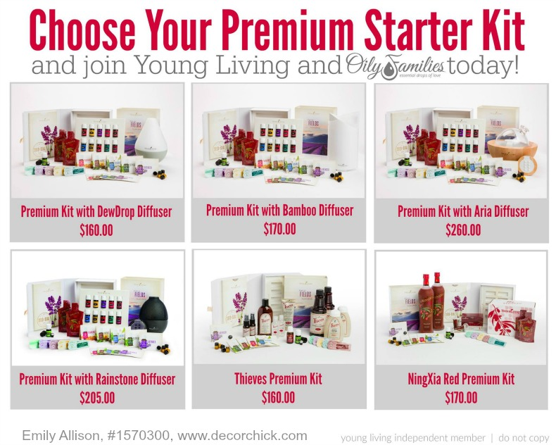 Premium Starter Kit Options with Young Living   Decorchick!®