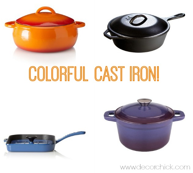 Colorful Cast Iron Deals | www.decorchick.com