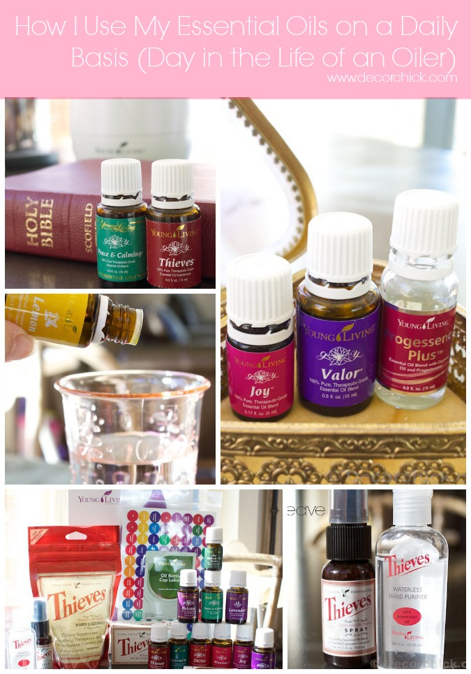 How to Use Essential Oils Every Day (Day in the Life of an Oiler) | www.decorchick.com