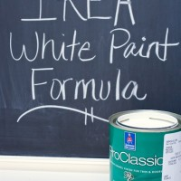 Ikea White Paint Formula | www.decorchick.com