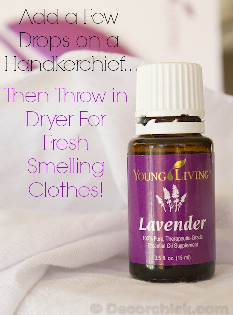Lavender Dryer Sheet | www.decorchick.com