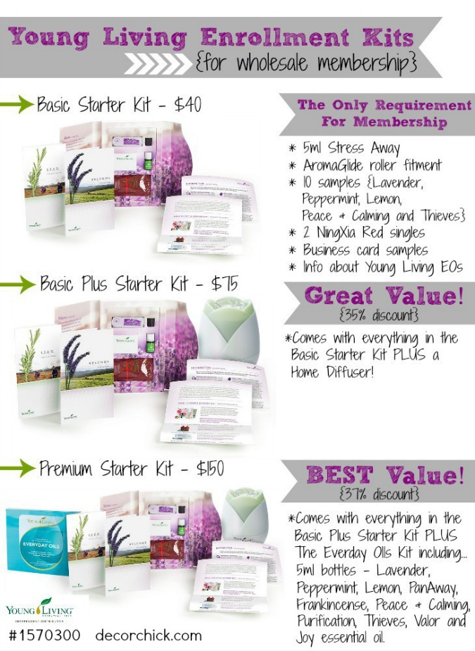 Young Living Enrollment Kit Comparison | www.decorchick.com