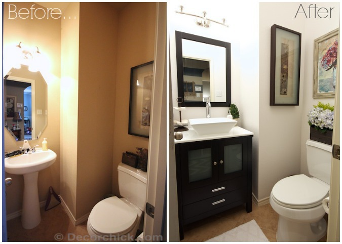 Bathroom Before and After | www.decorchick.com