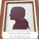 How To Make A Silhouette Portrait {Old School Style}