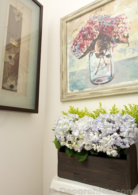 Hydrangea Display | www.decorchick.com