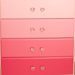 Pretty and Pink Ombre Dresser