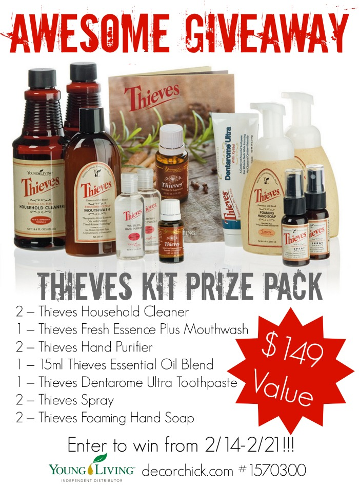 Amazing Young Living Essential Oils Thieves Kit Giveaway! | www.decorchick.com