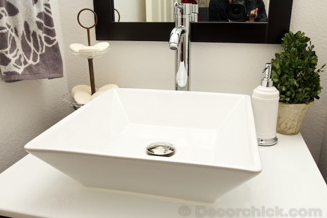 White Basin Sink | www.decorchick.com