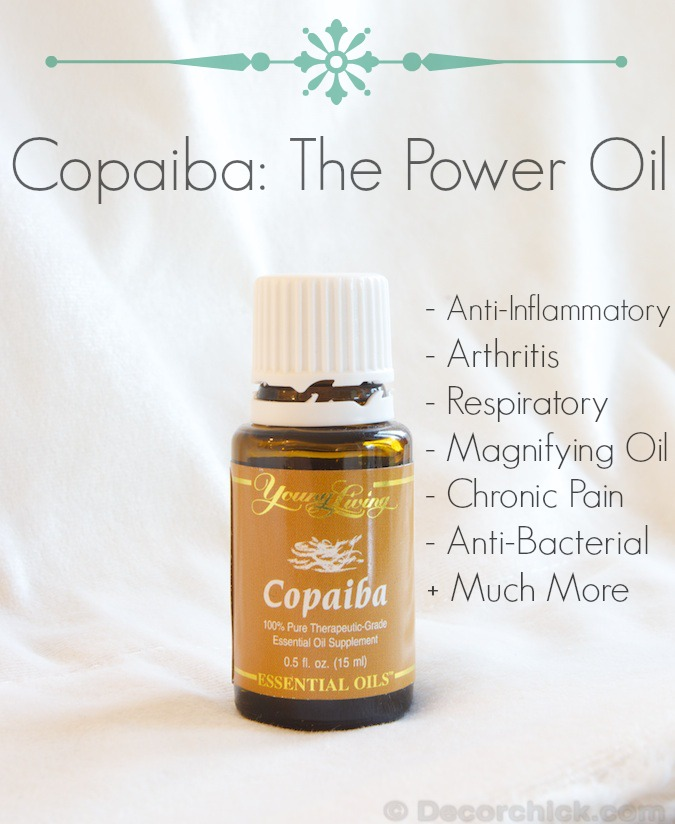 Copaiba Essential Oil | www.decorchick.com