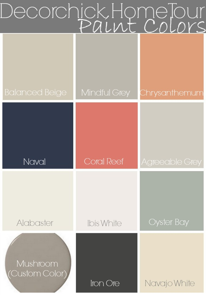 Paint colors in our home and updated home tour decorchick Great paint colors