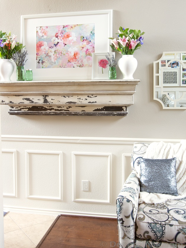 Spring decorating and Spring Mantel | www.decorchick.com
