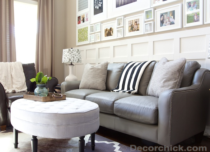 Talbot Leather Sofa from LZB | www.decorchick.com