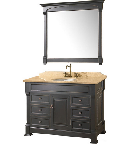 Black Vanity | www.decorchick.com