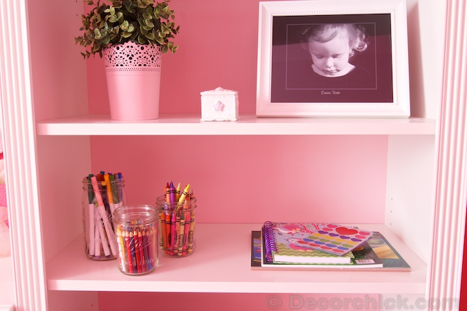 Bookshelf Styling and Art Center | www.decorchick.com