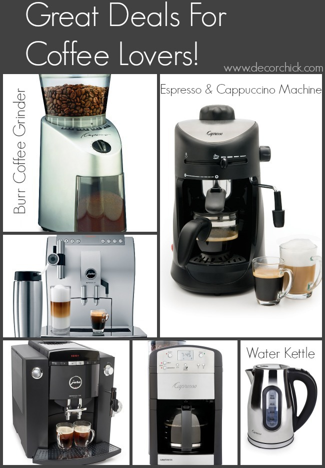 Capresso and Jura Coffee Deals for the Coffee Lovers! | www.decorchick.com