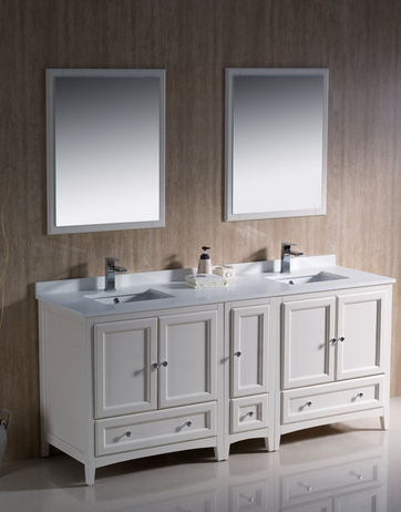 Double White Vanity | www.decorchick.com